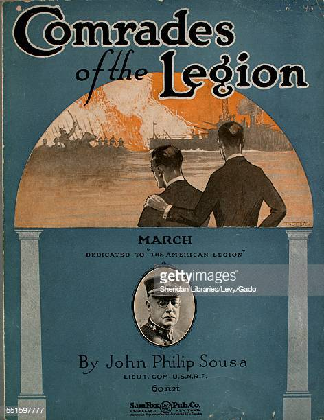 Sheet music cover image of 'Comrades of the Legion March' by John Philip Sousa and U S N R F Cleveland Ohio 1920