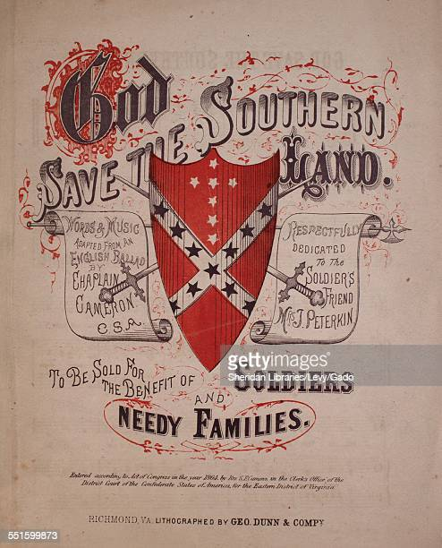 Sheet music cover image of 'God Save the Southern Land' by Chaplain Cameron Richmond VA 1864