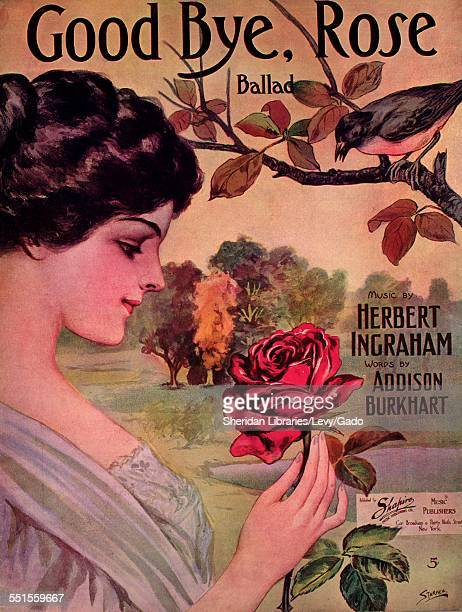 Sheet music cover image of 'Good Bye Rose Ballad' by Herbert Ingraham and Addison Burkhart with lithographic or engraving notes reading 'Starmer...