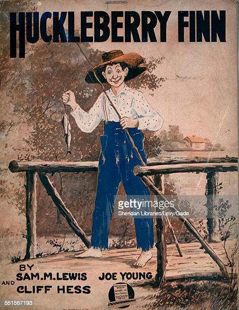 Sheet music cover image of 'Huckleberry Finn' by Sam M Lewis Joe Young and Cliff Hess with lithographic or engraving notes reading 'Barbelle FJ...