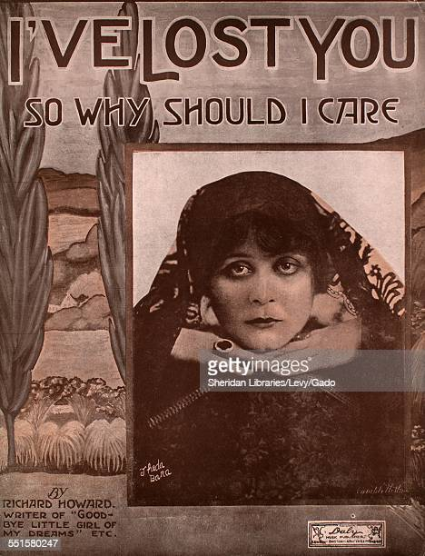 Sheet music cover image of 'I've Lost You ' by Richard Howard and C R Bird with lithographic or engraving notes reading 'photo of Bara ' Boston...