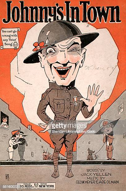 Sheet music cover image of 'Johnny's in Town' by Jack Yellen Geo W Meyer and Abe Olman New York New York 1919