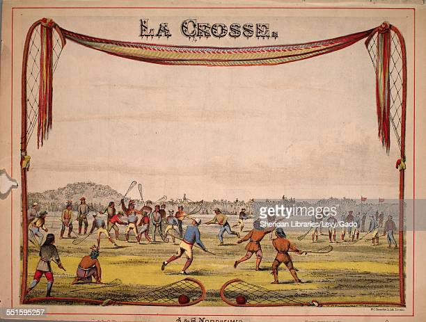 Sheet music cover image of 'La Crosse' by J Holt with lithographic or engraving notes reading 'WC Chewett Co Lithograph Toronto' 1867