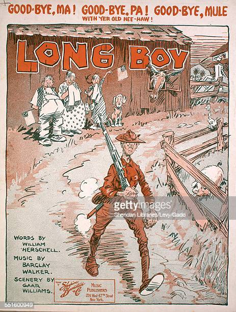 Sheet music cover image of 'Long Boy' by William Herschell Barclay Walker and Gaar Williams New York New York 1917