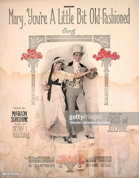 Sheet music cover image of 'Mary You're a Little Bit OldFashioned Song' by Marion Sunshine and Henry I Marshall with lithographic or engraving notes...