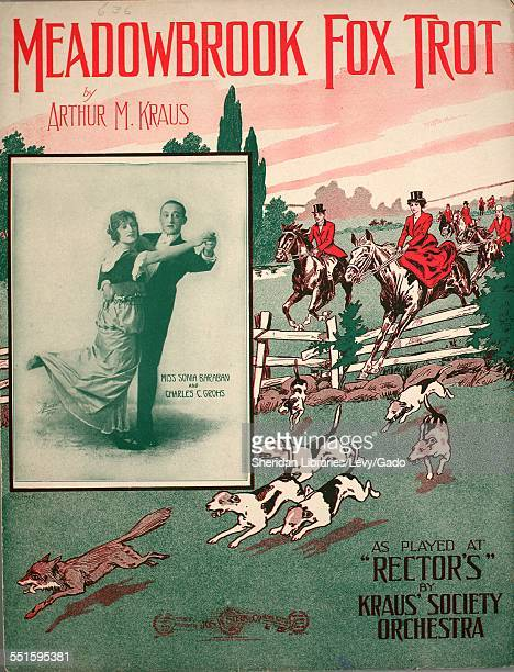 Sheet music cover image of 'Meadowbrook Fox Trot' by Arthur M Kraus with lithographic or engraving notes reading 'Abeda NY ' New York New York 1914