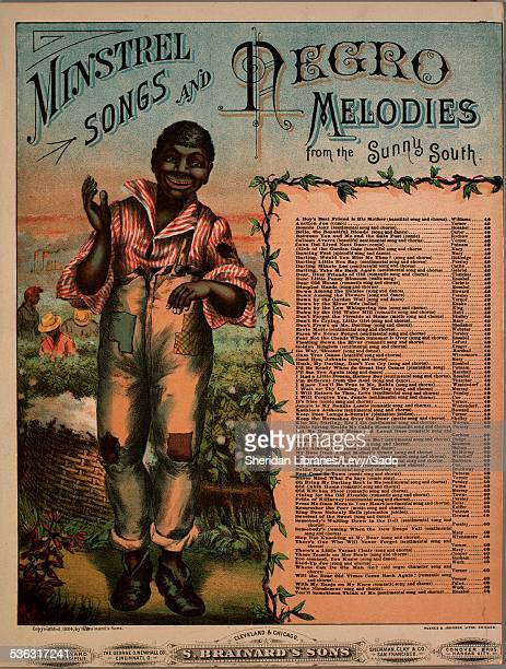 Sheet music cover image of 'Minstrel Songs and Negro Melodies from the Sunny South New Coon in Town The Popular Song of the Day' by J S Putnam with...