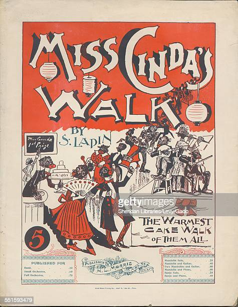 Sheet music cover image of 'Miss Cinda's Walk' by S Lapin with lithographic or engraving notes reading 'World Music Printing Co 2607 N 18th St Phila'...