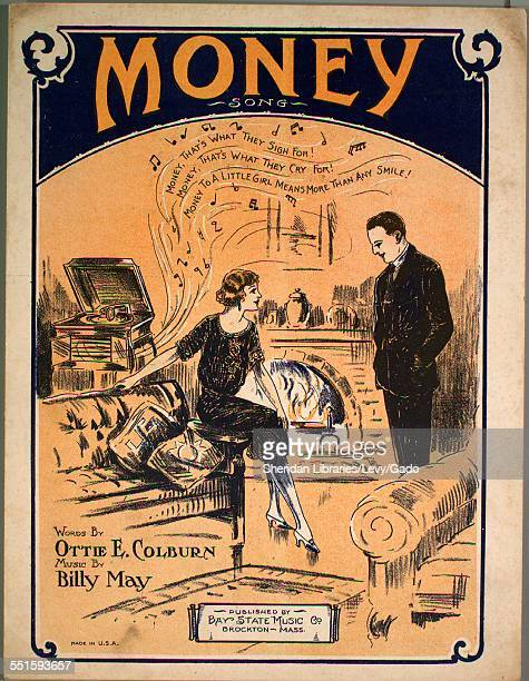 Sheet music cover image of 'Money Song' by Ottie E Colburn and Billy May Brockton Mass 1922