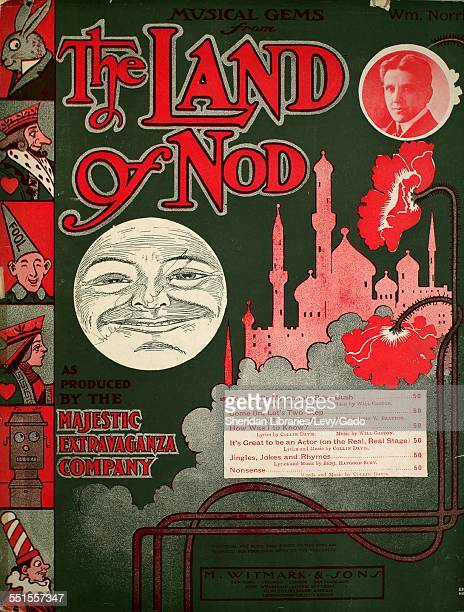 Sheet music cover image of 'Musical Gems From The Land of Nod Bonnie ' by Collin Davis and Will Gaston with lithographic or engraving notes reading...