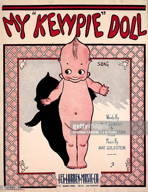 Sheet music cover image of 'My 'Kewpie' Doll Song ' by M J Gunsky Nat Goldstein and Nat Goldstein with lithographic or engraving notes reading...