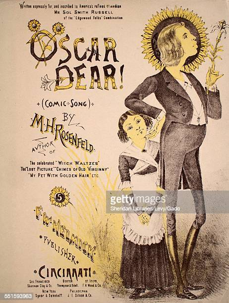 Sheet music cover image of 'Oscar Dear ' by M H Rosenfeld Cincinnati Ohio 1882