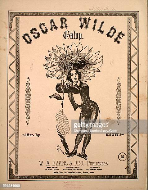 Sheet music cover image of 'Oscar Wilde Galop' by Snow New York New York 1900