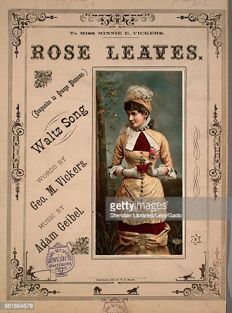 Sheet music cover image of 'Rose Leaves Waltz Song' by Geo M Vickers and Adam Geibel Boston Massachusetts 1882