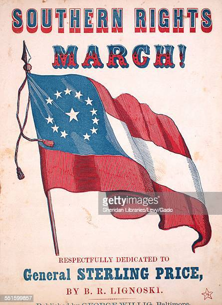 Sheet music cover image of 'Southern Rights March' by B R Lignoski Baltimore 1853