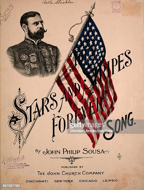 Sheet music cover image of 'Stars and Stripes Forever Song' by John Philip Sousa Cincinnati Ohio 1898