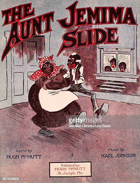 Sheet music cover image of 'The Aunt Jemima Slide' by Hugh McNutt and Karl Johnson with lithographic or engraving notes reading 'Hanny '17 Rayner...