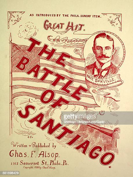 Sheet music cover image of 'The Battle of Santiago' by Chas F Alsop Philadelphia Pennsylvania 1898