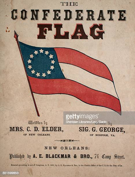 Sheet music cover image of 'The Confederate Flag' by Mrs C D Elder Sig and G George New Orleans Lousiana 1861