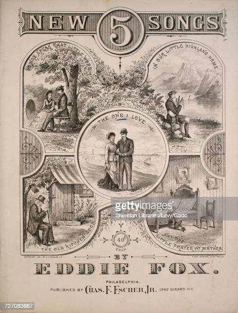 Sheet music cover image of the song '5 New Songs The One I Love Waltz Song' with original authorship notes reading 'By Eddie Fox' United States 1881...