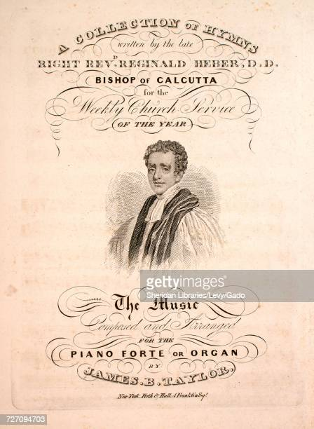 Sheet music cover image of the song 'A Collection of Hymns Holy Holy Holy Lord God Almighty' with original authorship notes reading 'Written by the...