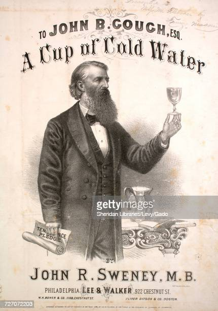 Sheet music cover image of the song 'A Cup of Cold Water' with original authorship notes reading 'By John R Sweney MB' United States 1873 The...