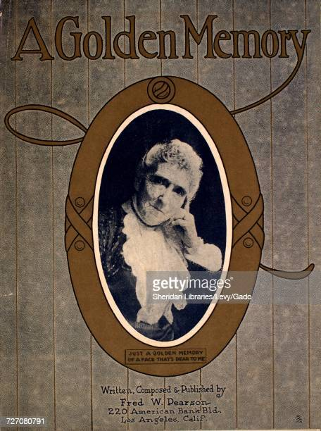Sheet music cover image of the song 'A Golden Memory Waltz Song' with original authorship notes reading 'Written Composed by Fred W Pearson' 1923 The...