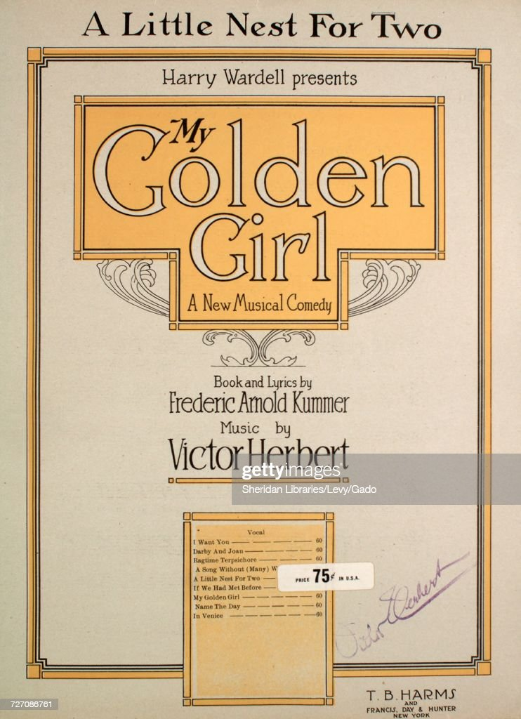 Sheet music cover image of the song 'A Little Nest For Two ', with