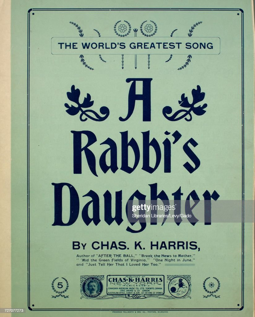 Sheet music cover image of the song 'A Rabbi's Daughter The