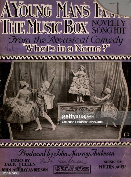 Sheet music cover image of the song 'A Young Man's Fancy The Music Box Novelty Song Hit ' with original authorship notes reading 'Lyrics by Jack...
