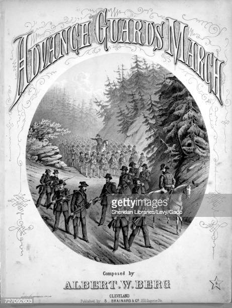 Sheet music cover image of the song 'Advance Guards March' with original authorship notes reading 'Composed by Albert W Berg' United States 1861 The...