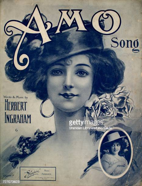 Sheet music cover image of the song 'Amo Song' with original authorship notes reading 'Words and Music by Herbert Ingraham' United States 1909 The...