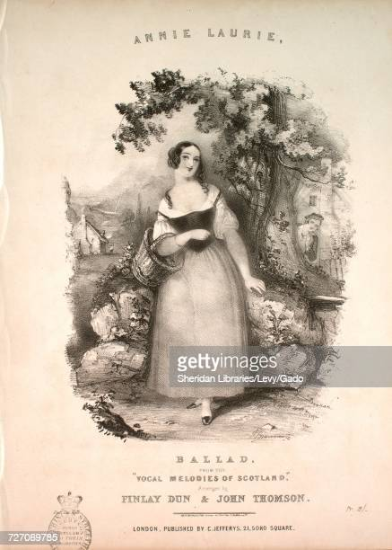 Sheet music cover image of the song 'Annie Laurie Ballad From the 'Vocal Melodies of Scotland'' with original authorship notes reading 'Arranged by...