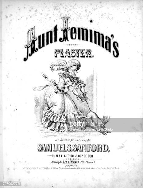 Sheet music cover image of the song 'Aunt Jemima's Plaster' with original authorship notes reading 'By MAI' United States 1855 The publisher is...