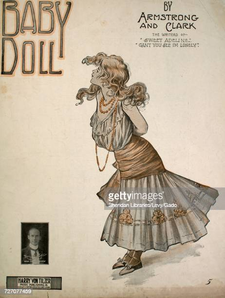 Sheet music cover image of the song 'Baby Doll' with original authorship notes reading 'By Armstrong and Clark' United States 1908 The publisher is...