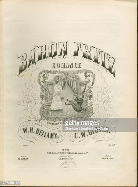 Sheet music cover image of the song 'Baron Fritz Romance' with original authorship notes reading 'Written by WH Bellamy Music by CW Glover' United...