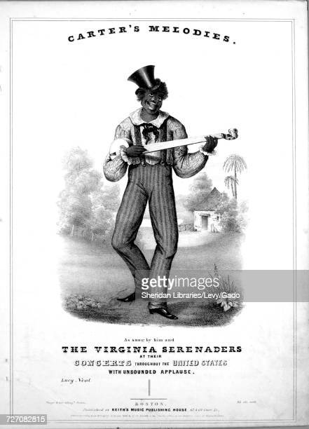 Sheet music cover image of the song 'Carter's Melodies Lucy Neal' with original authorship notes reading 'na' United States 1844 The publisher is...