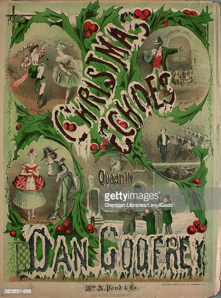 Sheet music cover image of the song 'Christmas Echoes' with original authorship notes reading 'Dan Godfrey' United States 1900