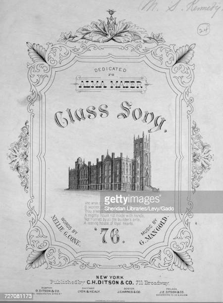Sheet music cover image of the song 'Class Song '76' with original authorship notes reading 'Words By Nellie G Cone Music By G Mangold' United States...