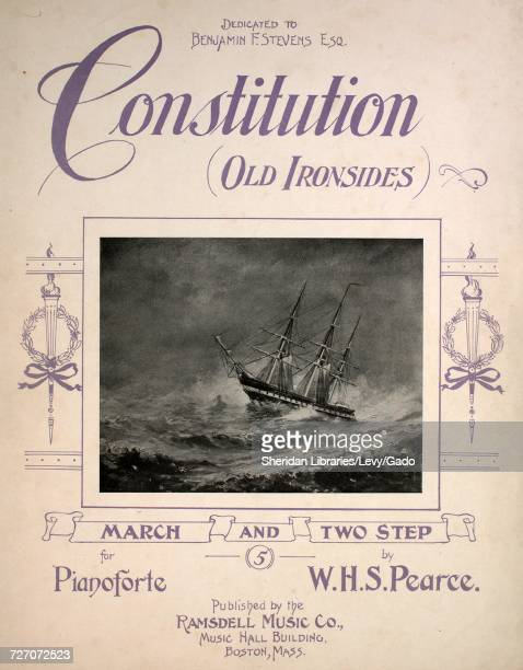Sheet music cover image of the song 'Constitution March and Two Step' with original authorship notes reading 'by WHS Pearce' United States 1904 The...