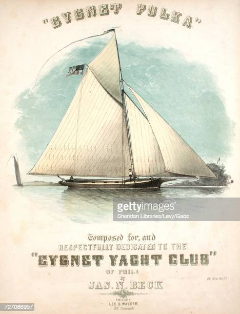 Sheet music cover image of the song 'Cygnet Polka' with original authorship notes reading 'by Jas N Beck' 1853 The publisher is listed as 'Lee and...