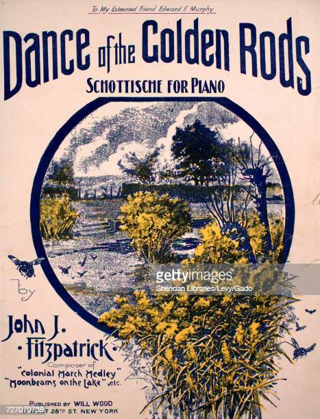 sheet music cover image of the song dance of the golden rods
