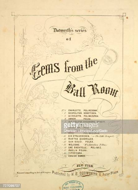 Sheet music cover image of the song 'dodworth's series of Gems from the Ball Room No 8 Elizabeth Schottisch' with original authorship notes reading...