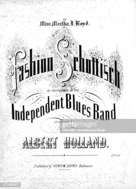 Sheet music cover image of the song 'Fashion Schottisch' with original authorship notes reading 'Arranged by Albert Holland' United States 1853 The...