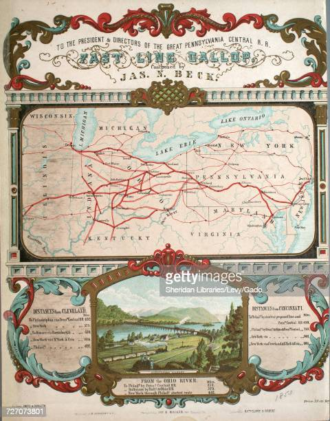 Sheet music cover image of the song 'Fast Line Gallop' with original authorship notes reading 'Composed by Jas N Beck' United States 1853 The...