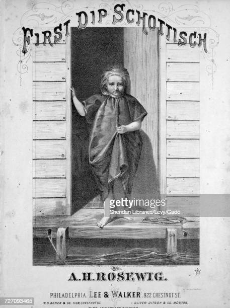 Sheet music cover image of the song 'First Dip Schottisch' with original authorship notes reading 'By AH Rosewig' United States 1874 The publisher is...