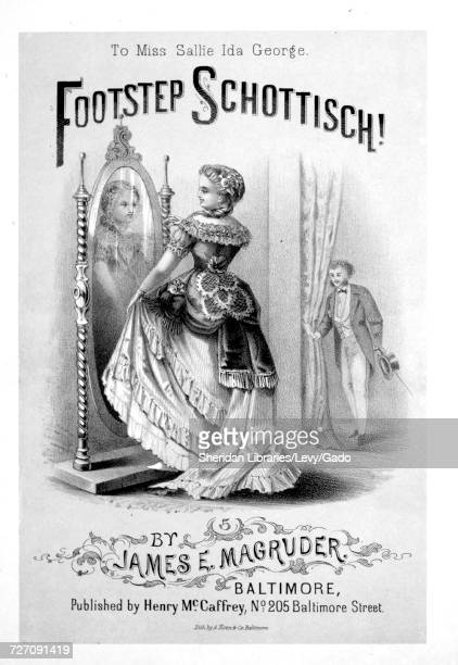 Sheet music cover image of the song 'Footstep Schottisch' with original authorship notes reading 'By James E Magruder' United States 1900 The...