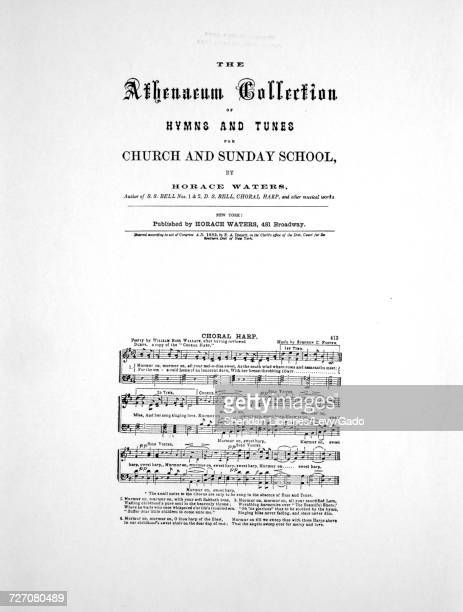 Sheet music cover image of the song 'Foster Hall Reproductions The Athenaeum Collection of Hymns and Tunes for Church and Sunday School by Horace...