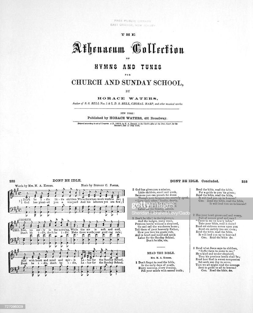 Sheet music cover image of the song 'Foster Hall Reproductions The