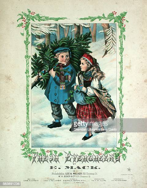 Sheet music cover image of the song 'Fresh [New] Evergreens Santa Claus March Merry Christmas Schottisch Happy New Year Waltz Evergreen Gallop...